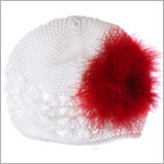 Z: Crochet White Marabou Hat *Many Colors!*