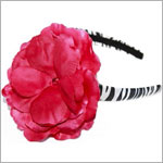 Z: Zebra Print Raspberry Rose Hard Headband