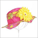 Z:  Pink/Orange Floral Sun Hat *Many Flower Colors!*