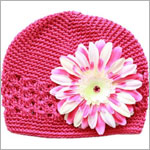 Z: Crochet Raspberry w/ Power of Pink Daisy Hat