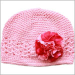 Z: Crochet Candy Pink w/ Power of Pink Geranium Hat