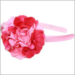 Z: Power Of Pink Geranium on Candy Pink Hard Headband