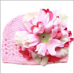 Z: Crochet Candy Pink w/ Power of Pink Peony Hat