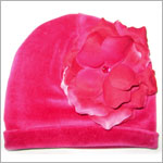 Z: Raspberry Velvet Small Rose Hat *Many Rose Colors!*