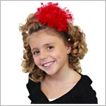 Z: Red Curly Marabou Hard Headband