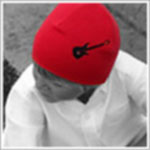 Z: Red Guitar Screen Print Beanie