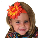 Z: Orange Daisy Headband