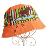 Z: Orange Boys Surf Dog Sunhat