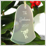 JDS *PERSONALIZED* Glass Bell Ornament
