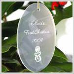JDS *PERSONALIZED* Glass Oval Ornament