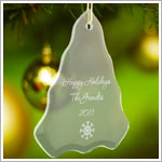JDS *PERSONALIZED* Glass Tree Ornament