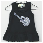 Kai Kreations Black Sleeveless Ruffle Guitar Dres