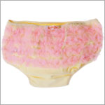 Kaiya Eve Cream/Pink Ruffle Diaper Cover