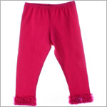 Kaiya Eve Raspberry Ruffle Hem Leggings w/ Bow