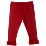Kaiya Eve Red Ruffle Hem Leggings w/ Bow