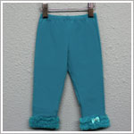 Kaiya Eve Teal Ruffle Hem Leggings w/ Bow