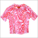 Kate Mack *COPACABANA* Coral Print Surf Shirt