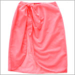 Kate Mack *COPACABANA* Coral Sheer Sarong