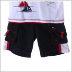 Bobby Mack *LE PETIT SAILOR* Navy Board Shorts