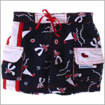 Bobby Mack *LE PETIT SAILOR* Navy Print Swim Shorts