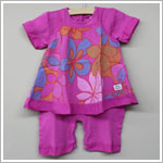 Keedo Fuschia 2pc Pinafore Romper