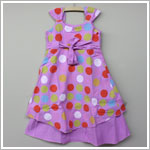 Keedo *60's Dress* Lavender Polka Dot Dress