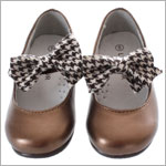 OS: L'Amour Bronze Mary Jane Shoe With Bow