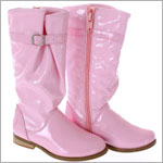 FS: L'Amour Tall Pink Patent Boot w/ Buckle