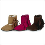 Z: L'Amour BROWN Tassle Ankle Boots w/ Velcro Side