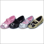 Z: L'Amour FUCHSIA Glitter Flat Shoes w/ Bow and Rhinestones