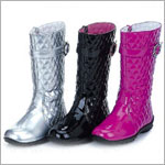 Z: L'Amour *FUNKY FUCHSIA* Patent Tall Princess Boots With Side Zipper