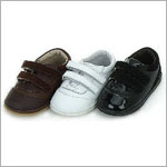 Z: L'Amour BROWN Classic Tennis Shoes w/ Double Velcro Straps