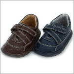 Z: L'Amour BROWN Zig-Zag Velcro Shoes