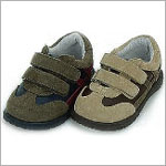 Z: L'Amour Boys TAN/BROWN Two Tone Double Strap Shoes