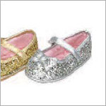 Z: L'Amour SILVER Large Bow Glitter Shoes