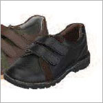 Z: L'Amour BOYS BLACK Double Velcro Dress Shoes