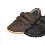Z: L'Amour BOYS BROWN Double Velcro Dress Shoes