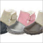 Z: L'Amour SILVER/PINK Baby Moccasin Style Boots with Buckle