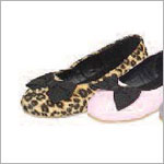 Z: L'Amour LEOPARD Slip On Shoe with Black Bow