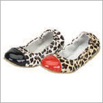 Z: L'Amour BLACK Toed Leopard Slip On Shoe