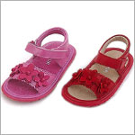 OS: L'Amour RED Flexi-Sole 3 Flower Sandals