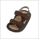 OS: L'Amour BROWN Flexi Double Velcro Sandals