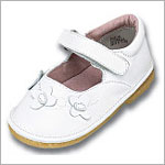 Z: L'Amour WHITE Tri Butterfly Mary Janes
