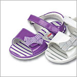 Z: L'Amour PATENT PURPLE Sandal with Striped Side Bow