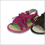 Z: L'Amour FUCHSIA Baby Fringe Sandal with Bow