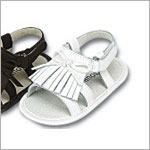 Z: L'Amour WHITE Baby Fringe Sandal with Bow