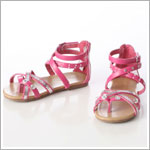 Z: L'Amour FUCHSIA Strappy Bling Sandal