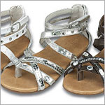 Z: L'Amour SILVER Strappy Bling Sandal