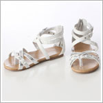 Z: L'Amour WHITE Strappy Bling Sandal
