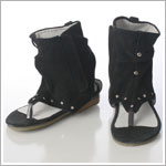 Z: L'Amour BLACK Greek Slouch Suede Ankle Sandal